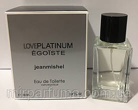 Туалетная вода jeanmishel Love Egoiste Platinum Pour Homme Men 60ml