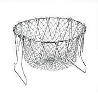 🔝 Дуршлаг Magic Kitchen Deluxe Chef Basket, складной дуршлаг фритюрница |доставка по Киеву и Украине | 🎁%🚚