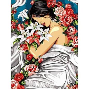 Картина по номерам Девушка в цветах, 30x40 см Babylon