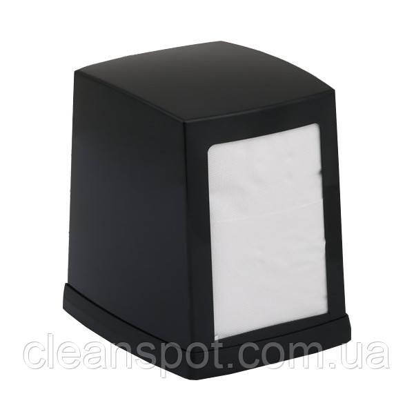 Держатель салфеток столовых чёрный настольный с утяжелителем