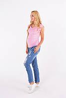 Джинсы бойфренды для беременных, синий джинс, фото 1