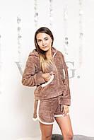 Женский мягкий костюм для дома с ушками мишки