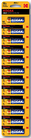 Батарейка щелочная Kodak MAX LR06 \ AA \ Alkaline (1х10 отрывная)