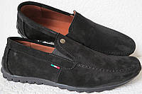 Massimo Dutti! Чоловічі замшеві чорні мокасини комфортне взуття репліка Массімо дутти