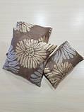 Комплект подушек бежевые Пионы  3шт , фото 2