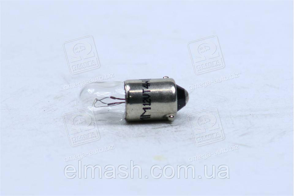 Лампа накаливания T4W 12V 4W BA9s (пр-во Magneti Marelli)