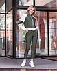Прогулочный женский костюм с кофтой на молнии, фото 2