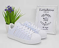 ✅ Кроссовки женские Adidas Superstar All White 37 р | Адидас Суперстар женские белые
