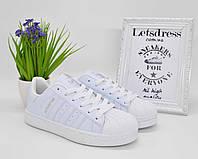 Кроссовки женские Adidas Superstar All White   Адидас Суперстар женские белые, фото 1