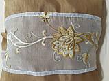 Комплект подушок Коричневі з квіткою 3шт, фото 2