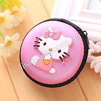 Силиконовый кошелек на змейке для девочки Hello Kitty розовый, фото 1