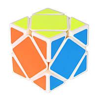 Кубик головоломка ск'юб YongJun Guanlong Skewb, Білий пластик, в коробці