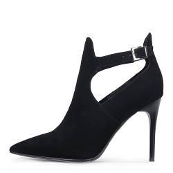Элегантные замшевые демисезонные женские ботинки на шпильке A-VANI