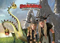 Картина GeekLand How to train your dragon Как приручить дракона постер к мультфильму 60х40см HD.09.001
