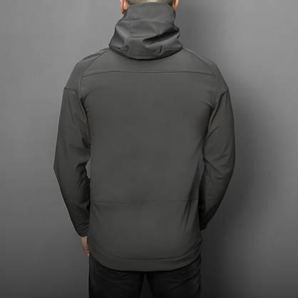 """Мужская Весенняя куртка Pobedov """"Soft Shell"""" (серый), фото 2"""