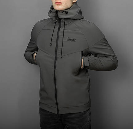 """Мужская Весенняя куртка Pobedov """"Soft Shell"""" (серый), фото 3"""
