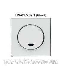 Вимикач одинарний внутрішній з підсвіткою білий RIGHT HAUSEN LAURA HN-015021