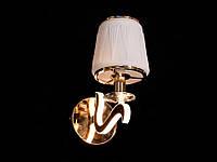 Бра классическое с подсветкой рожков золото/хром 8348-1