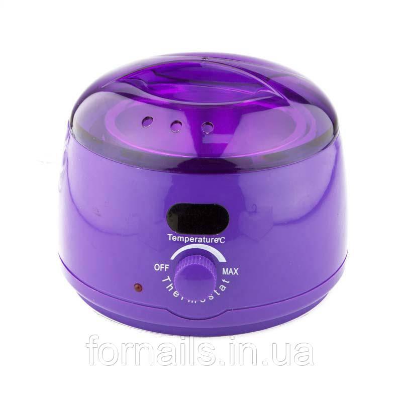 Воскоплав баночный Wax Heater фиолетовый для воска в банке, в таблетках и в гранулах