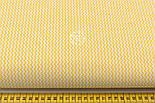 Ткань с мини-зигзагом 7 мм жёлтого цвета №236, фото 2