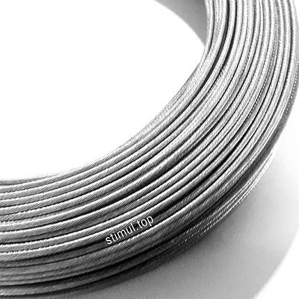Трос оцинкованный Ø 1.5 мм (DIN 3053 / 1х19) | Сталеві канати оптом | Канат стальной, фото 2