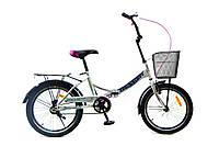 """Складной велосипед с корзиной и багажником Benetti Golly DD 20"""" индиго"""