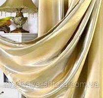 Портьерная ткань blackout широкая полоса (пшеничный)