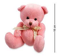 Мягкая игрушка Плюшевый мишка PT-48С розовый. Подарки на Валентина