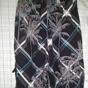 Шорты-капри мужские 83027 Пальмы темно-серые на размеры 46-48