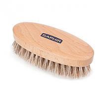 Щетка для обуви Saphir Polisher Brush овальная со светлой щетиной