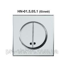 Вимикач подвійний внутрішній з підсвіткою білий RIGHT HAUSEN LAURA HN-015051