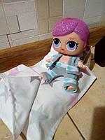 Кровать и постель для кукол Лол. Мебель для кукольного домика.