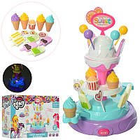 Игровой набор Мой Магазин Сладостей -прилавок - подставка вращается, мороженое, звук, свет,901-656