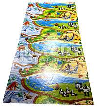 """Игровой коврик для ползания ребенка """"Мадагаскар"""" XXL 2500x1200x8мм"""