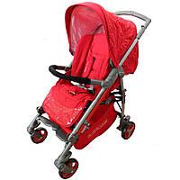 Коляска прогулочная BabyLuxe ruby (красный). Вес 10 кг (90x55x99 см)