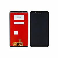 Дисплей для HUAWEI Y7 2018/ Nova 2 Lite с чёрным тачскрином