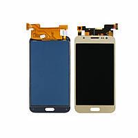 Дисплей для SAMSUNG J500 Galaxy J5 с золотистым тачскрином, с регулируемой подсветкой (ID:17903)