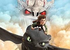 Картина GeekLand How to train your dragon Как приручить дракона постер к мультфильму 60х40см HD.09.002