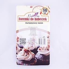 Формы для выпечки кексов, 9 см, 80 шт., бумага, фото 2