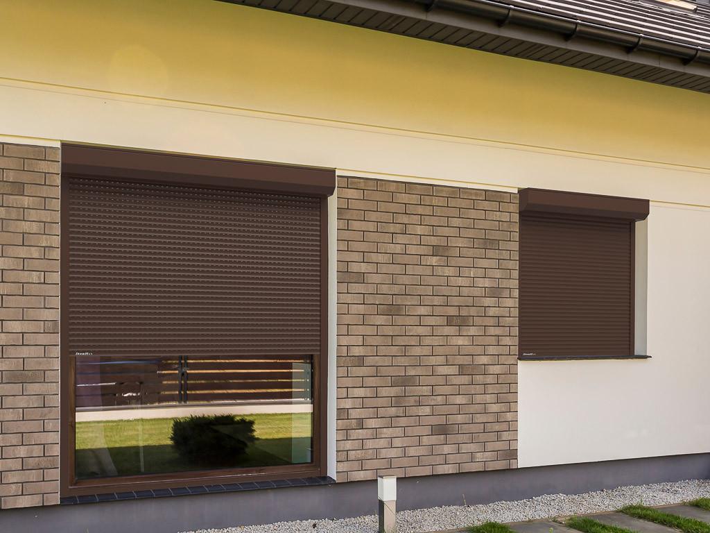 Рольставни DoorHan витринные из пенозаполненного профиля перфорированного RH58PN