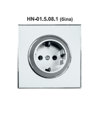 Розетка RIGHT HAUSEN LAURA 1-я внутрішня з заземленням біла HN-015081