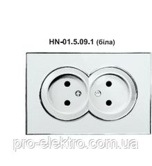Розетка RIGHT HAUSEN LAURA 2-я внутрішня біла HN-015091