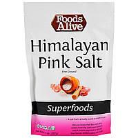 Гималайская розовая соль мелкого помола Foods Alive, Superfoods, 397 г