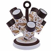 Набор из 6 кружек 0.415л на подставке Candy Tree Cup Holder A 363