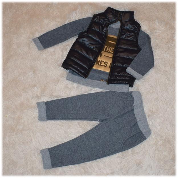 Костюм весенний на мальчика  (жилетка+ реглан + штаны) FLAMINI (Турция) размер 92 98 104 110