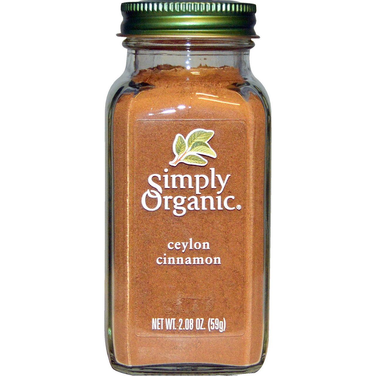 Органическая цейлонская корица Simply Organic, 59 г