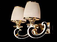 Бра классическое с подсветкой рожков золото/хром 8342-2
