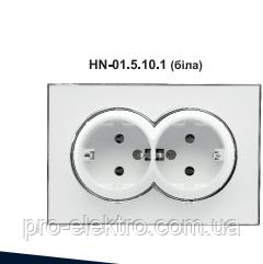 Розетка RIGHT HAUSEN LAURA 2-я внутрішня з заземленням біла HN-015101