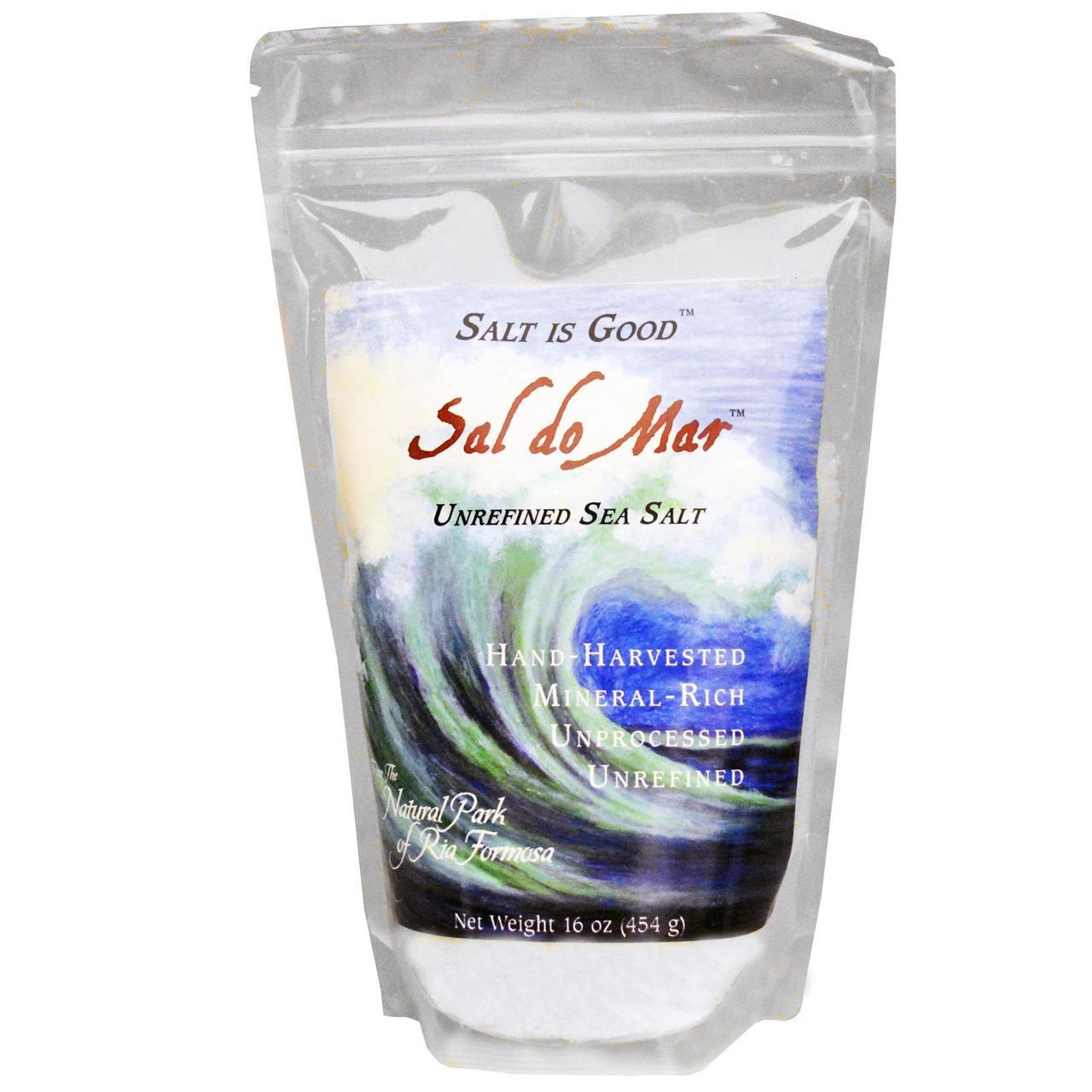 Нерафинированная морская соль Mate Factor, Sal do Mar, 454 г