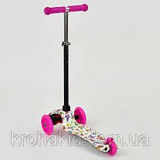 Самокат Best ScooterMINI А 24705 /779-1296Розовый (бабочки), фото 2